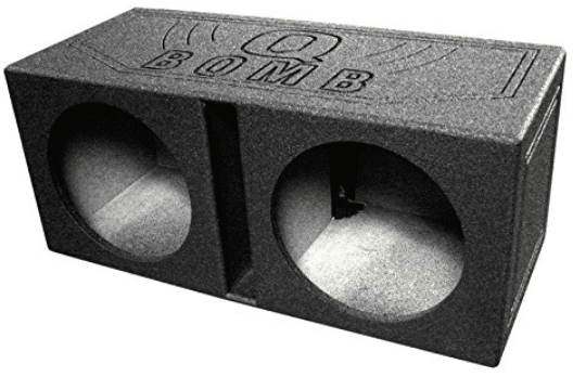 "Q Power QBOMB12V Dual 12"" Sub Box"